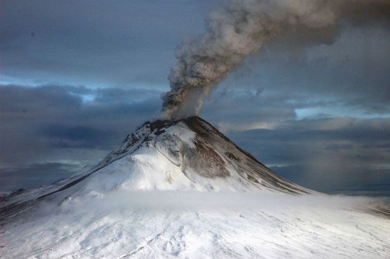 Augustine volcano, view from north