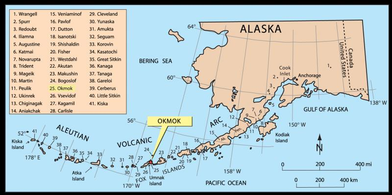 Umnak Island Alaska Map