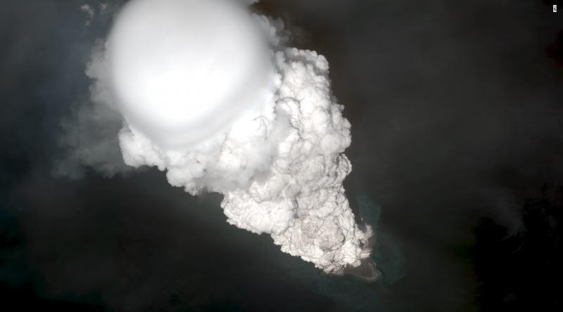 Bogoslof eruptive plume May 28, 22:34 UTC